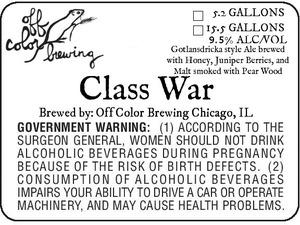 Off Color Brewing Class War