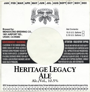 Mendocino Brewing Co Heritage Legacy Ale