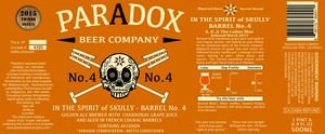 Paradox Beer Company In The Spirit Of Skully Barrel No.4