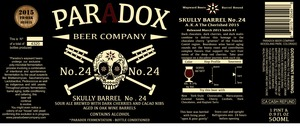 Paradox Beer Company Skully Barrel No. 24