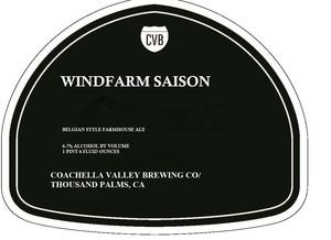 Coachella Valley Brewing Company Windfarm Saison