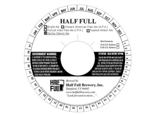 Half Full Spring Saison Ale