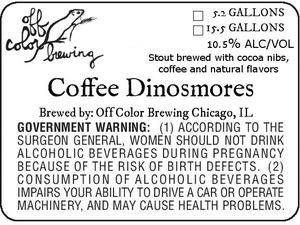 Off Color Brewing Coffee Dinosmores