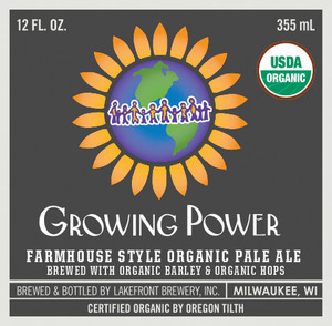 Lakefront Brewery, Inc. Growing Power Farmhouse Style Organic