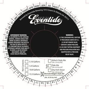 Eventide Brewing Revival Belgian Style Ale