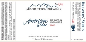 Grand Teton Brewing Company American Sour 2015