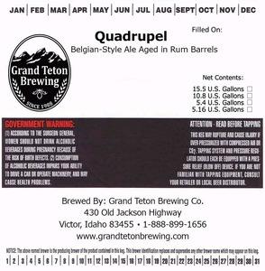 Grand Teton Brewing Company Quadrupel
