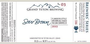 Grand Teton Brewing Company Sour Brown