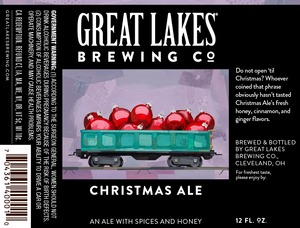 The Great Lakes Brewing Co. Christmas Ale
