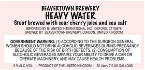 Beavertown Brewery Heavy Water