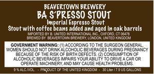 Beavertown Brewery Ba S'presso Stout