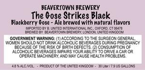 Beavertown Brewery The Gose Strikes Black