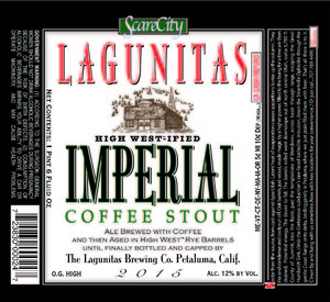 The Lagunitas Brewing Company High West-ified Imperial Coffee Stout