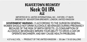 Beavertown Brewery Neck Oil