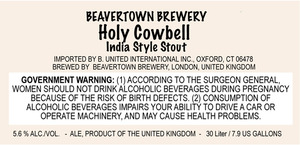 Beavertown Brewery Holy Cowbell