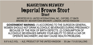 Beavertown Brewery Imperial Brown Stout