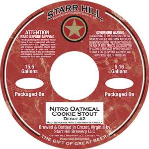 Starr Hill Nitro Oatmeal Cookie Stout