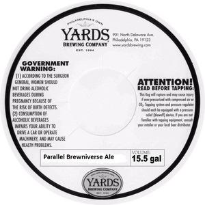 Yards Brewing Company Parallel Brewniverse Ale