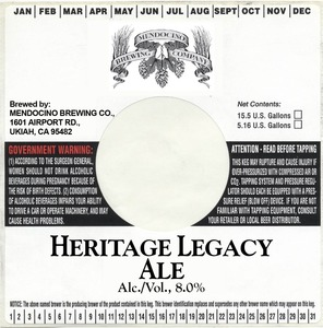 Mendocino Brewing Co Inc Heritage Legacy Ale
