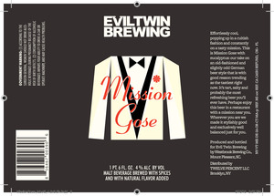 Evil Twin Brewing Mission Gose