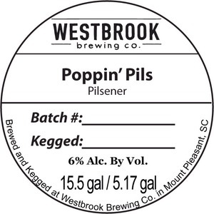 Westbrook Brewing Company Poppin' Pils March 2015