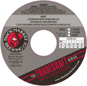 Black Market Brewing Co Tradecraft Sour Ale With Cherries