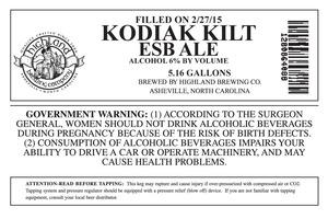 Highland Brewing Co. Kodiak Kilt