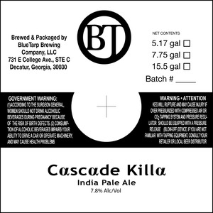 Bluetarp Brewing Company Cascade Killa