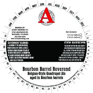 Avery Brewing Company Bourbon Barrel Reverend