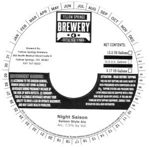 Yellow Springs Brewery Night Saison