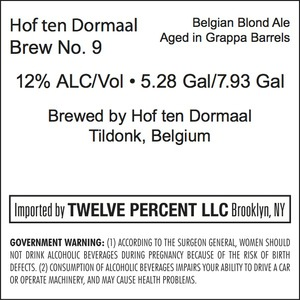 Hof Ten Dormaal Brew No. 9