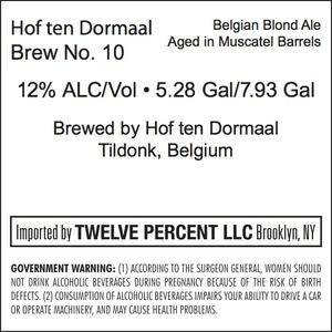 Hof Ten Dormaal Brew No. 10