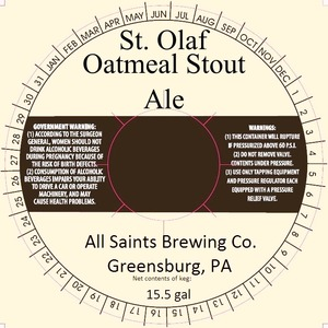 All Saints Brewing Co. Oatmeal Stout