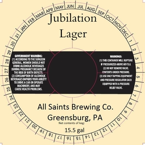 All Saints Brewing Co. Jubilation