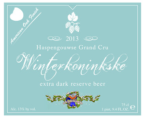 Winterkoninkske Haspengouwse Grand Cru