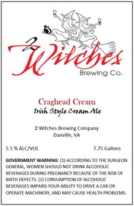 2 Witches Brewing Company Craghead Cream