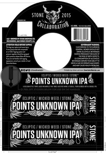 Stone Brewing Co Points Unknown IPA