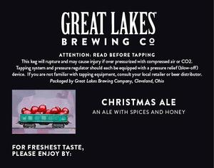 The Great Lakes Brewing Co. Christmas Ale April 2015