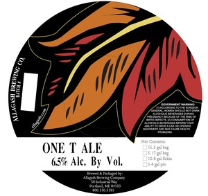 Allagash Brewing Company One T Ale