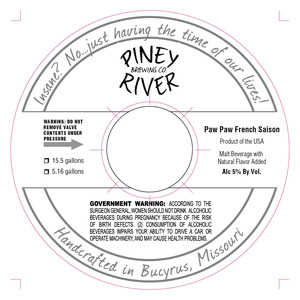 Piney River Brewing Co. LLC Paw Paw French