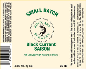 Rock Art Brewery Black Currant Saison