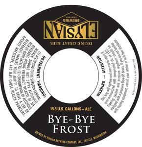 Elysian Brewing Company Bye Bye Frost