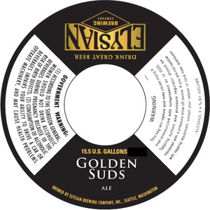 Elysian Brewing Company Golden Suds