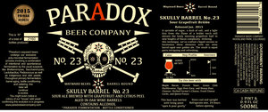Paradox Beer Company Skully Barrel No. 23