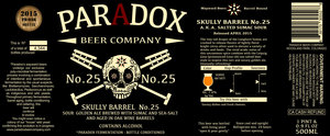 Paradox Beer Company Skully Barrel No. 25