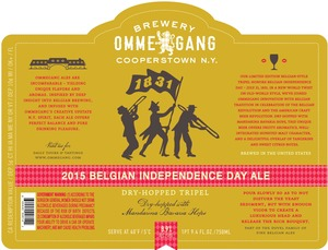 Ommegang 2015 Belgian Independence Day Ale