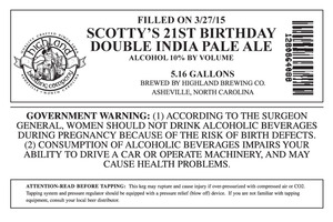 Highland Brewing Co. Scotty's 21st Birthday