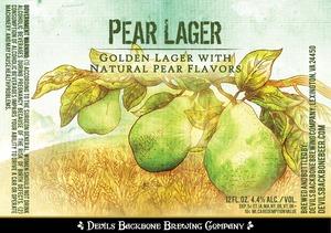 Devils Backbone Brewing Company Pear Lager
