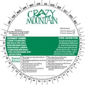 Crazy Mountain Brewing Company Barrel Aged Bridge Street