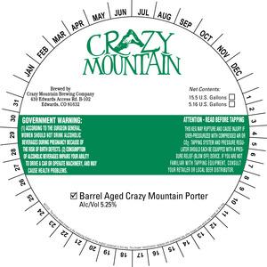 Crazy Mountain Brewing Company Barrel Aged Crazy Mountain